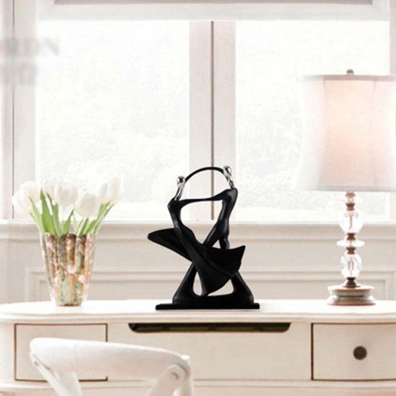 1X-Modern-Abstract-Black-Human-Body-Statue-Home-Decoration-Wedding-Gift-CreZ2T9 thumbnail 10