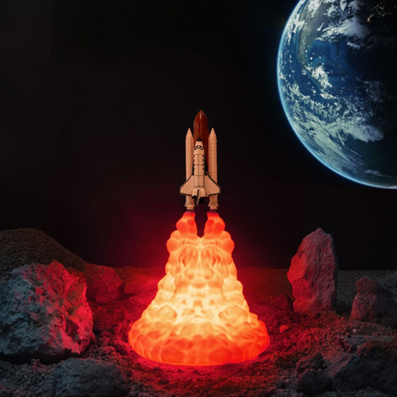 Space-Shuttle-Lamp-and-Moon-Lamps-in-Night-Light-By-3D-Print-for-Space-Lover-v2h thumbnail 7