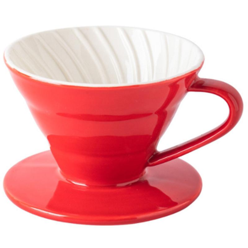 Colorida-Cafetera-Rosca-de-Tornillo-Dentro-de-CeraMica-Goteador-de-Cafe-Taz-B5V3 miniatura 3