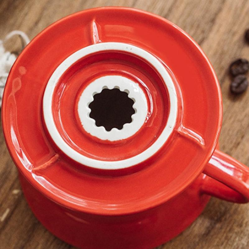 Colorida-Cafetera-Rosca-de-Tornillo-Dentro-de-CeraMica-Goteador-de-Cafe-Taz-B5V3 miniatura 8
