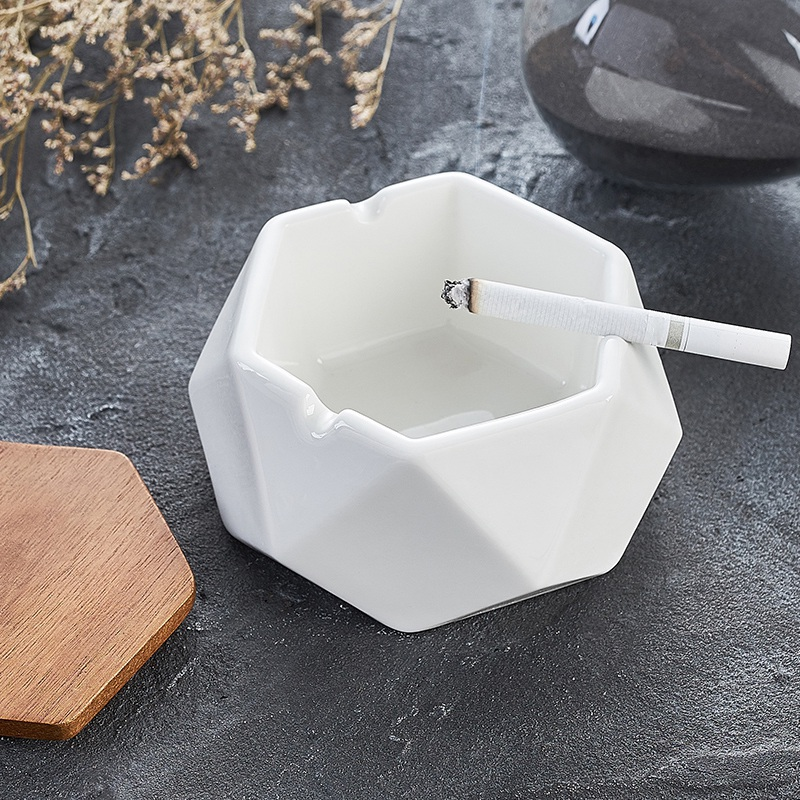 1X-Simple-Ceramic-Ashtray-Home-Living-Room-Office-Ashtray-N7P1 thumbnail 11