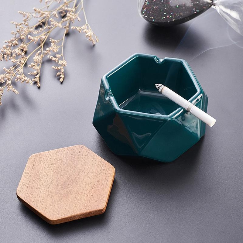 1X-Simple-Ceramic-Ashtray-Home-Living-Room-Office-Ashtray-N7P1 thumbnail 14