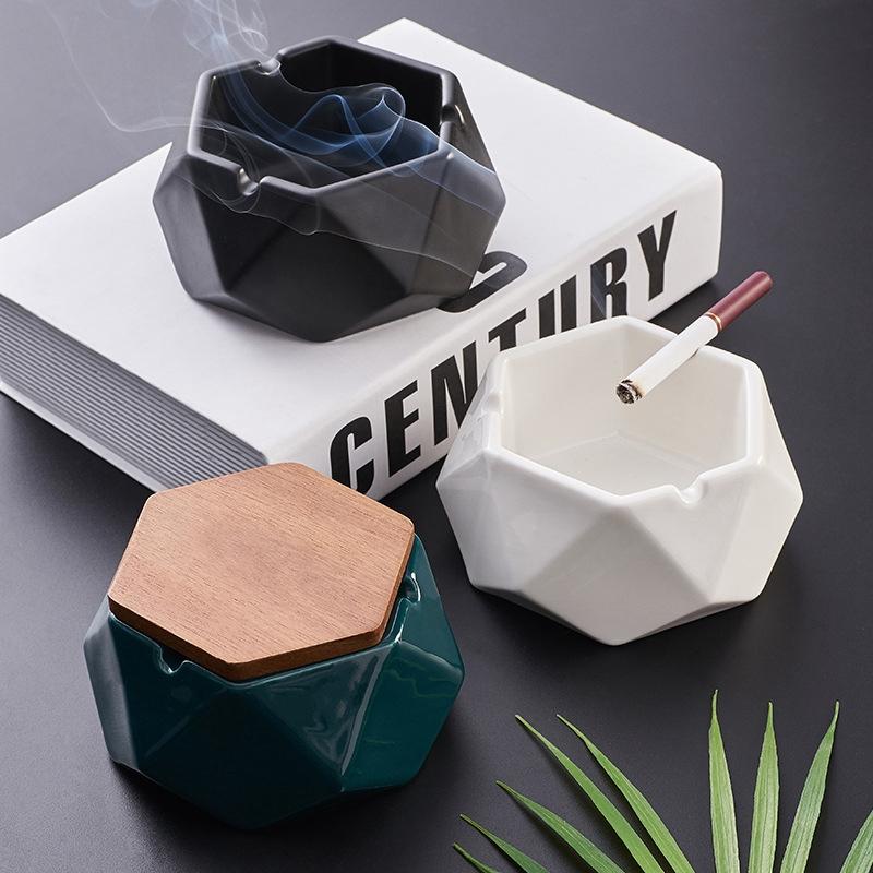 1X-Simple-Ceramic-Ashtray-Home-Living-Room-Office-Ashtray-N7P1 thumbnail 15