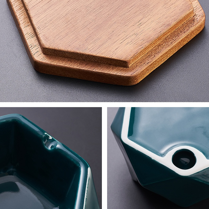 1X-Simple-Ceramic-Ashtray-Home-Living-Room-Office-Ashtray-N7P1 thumbnail 19