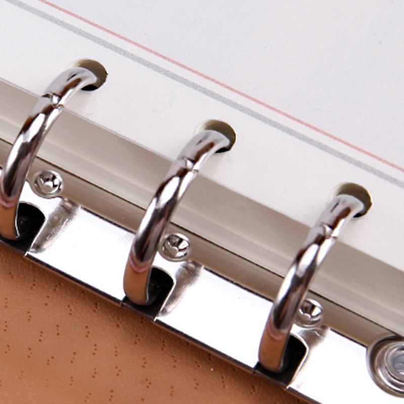 Cuaderno-Espiral-de-Cuero-Lindo-A5-PapeleriA-Carpeta-de-Persona-de-Oficina-Plani miniatura 6