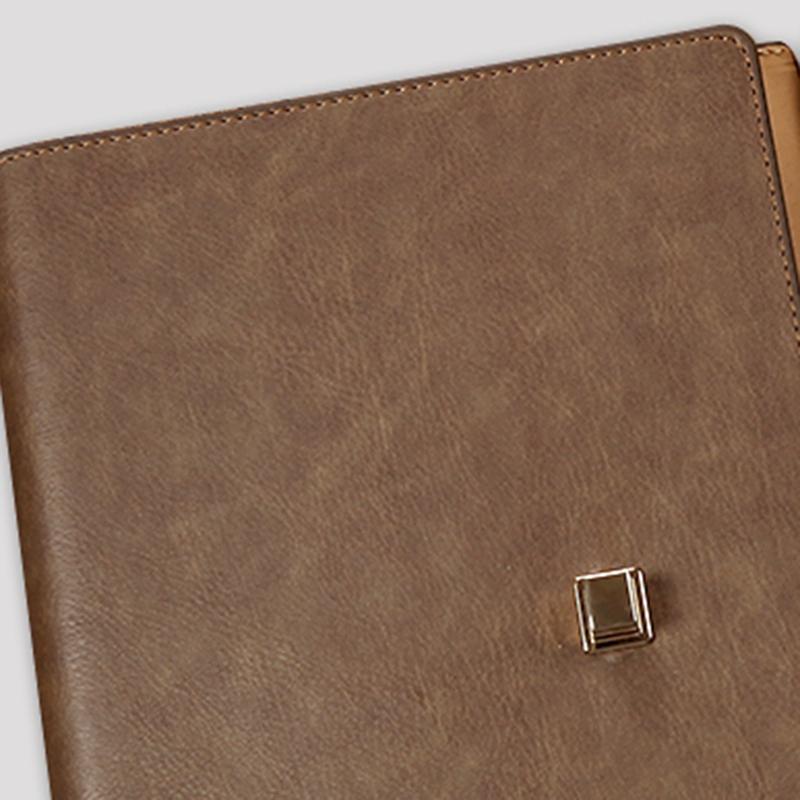 Cuaderno-Espiral-de-Cuero-Lindo-A5-PapeleriA-Carpeta-de-Persona-de-Oficina-Plani miniatura 10