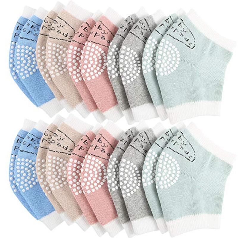NATUCE 5 pares beb/é gatear rodilleras antideslizantes,calentador de la pierna del beb/é,protector de rodilla para beb/é.