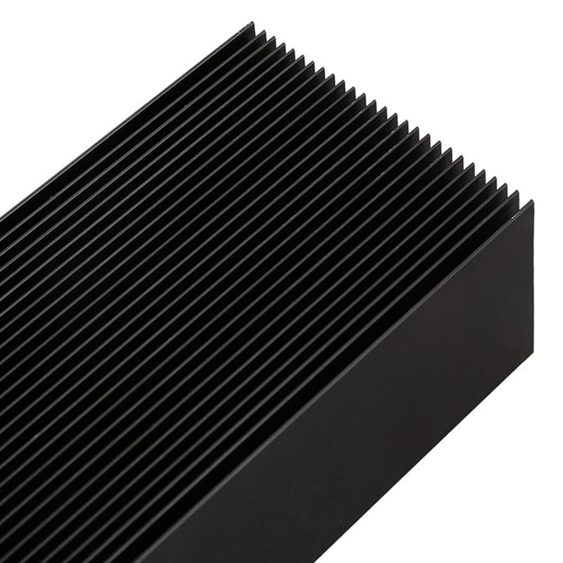 Black-Aluminum-Radiator-Dense-27-Tooth-Heat-Sink-for-Power-Amplifier-Heater-C4N1 thumbnail 9