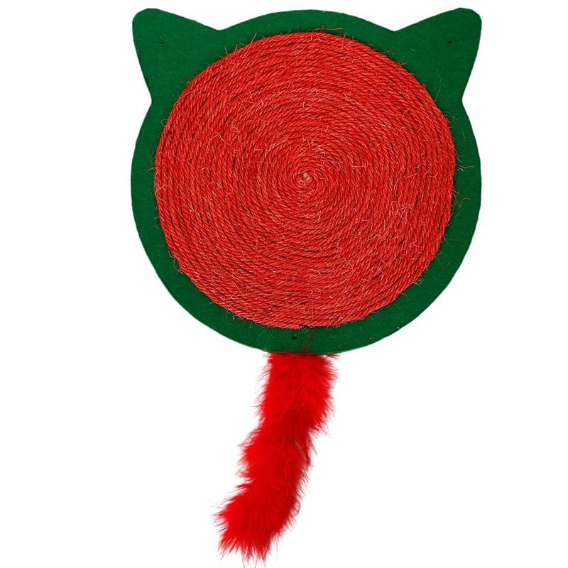 thumbnail 3 - Merry Christmas Cute Cat Pet Scratching Board Toy Cat Litter Mat for Kitten A2J2