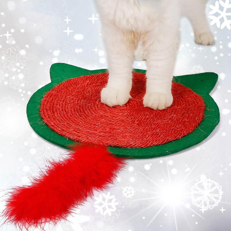 thumbnail 4 - Merry Christmas Cute Cat Pet Scratching Board Toy Cat Litter Mat for Kitten A2J2