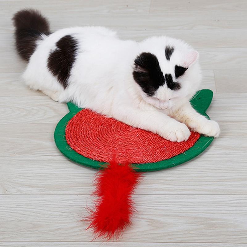 thumbnail 5 - Merry Christmas Cute Cat Pet Scratching Board Toy Cat Litter Mat for Kitten A2J2