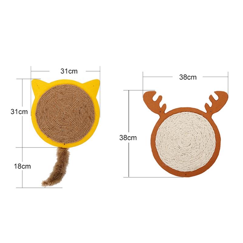 thumbnail 6 - Merry Christmas Cute Cat Pet Scratching Board Toy Cat Litter Mat for Kitten A2J2