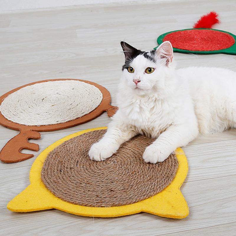 thumbnail 8 - Merry Christmas Cute Cat Pet Scratching Board Toy Cat Litter Mat for Kitten A2J2