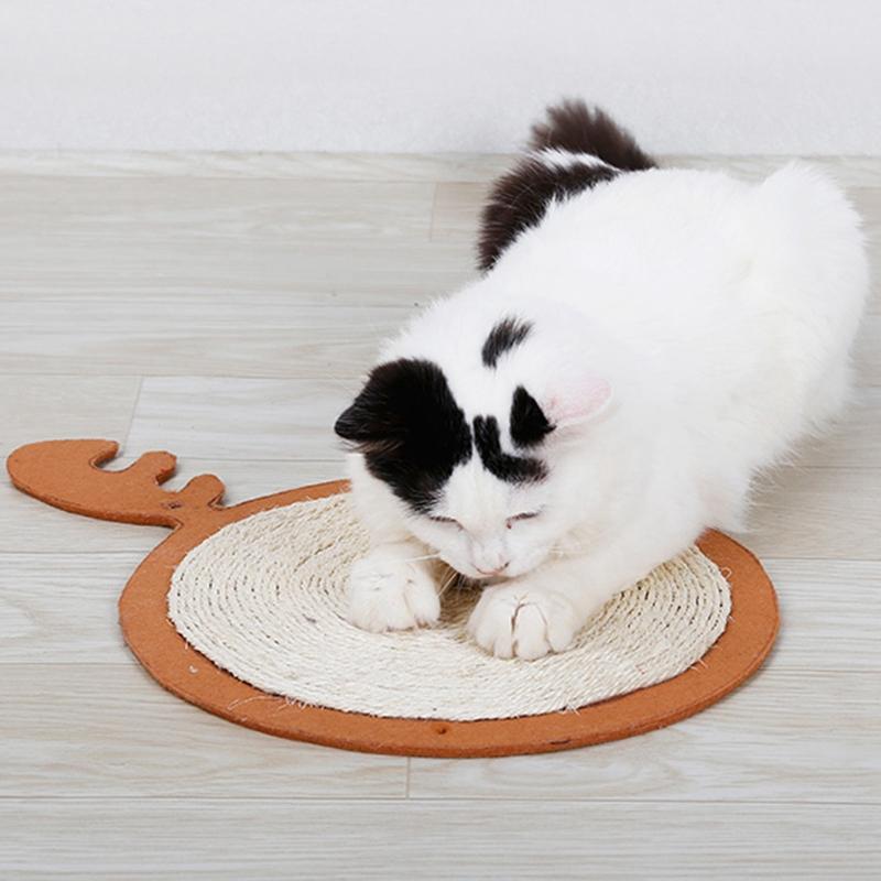 thumbnail 14 - Merry Christmas Cute Cat Pet Scratching Board Toy Cat Litter Mat for Kitten A2J2