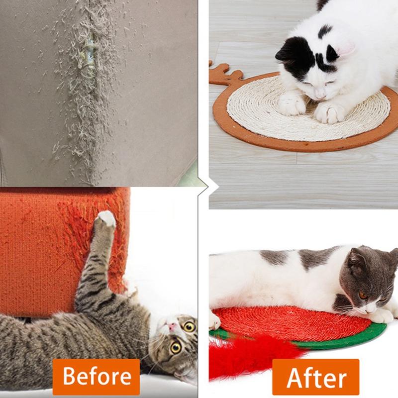 thumbnail 17 - Merry Christmas Cute Cat Pet Scratching Board Toy Cat Litter Mat for Kitten A2J2
