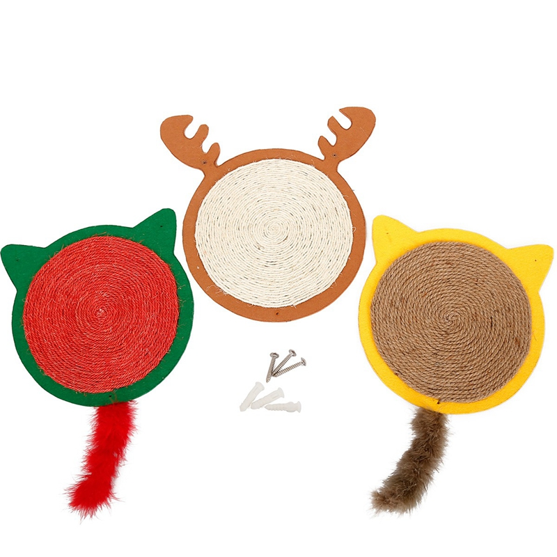 1X-Merry-Christmas-Cute-Cat-Pet-Scratching-Board-Toy-Cat-Litter-Mat-for-KitR6N2 thumbnail 30