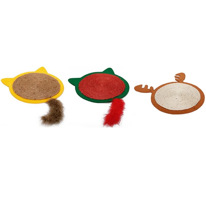 thumbnail 31 - Merry-Christmas-Cute-Cat-Pet-Scratching-Board-Toy-Cat-Litter-Mat-for-Kitten-Z5L4