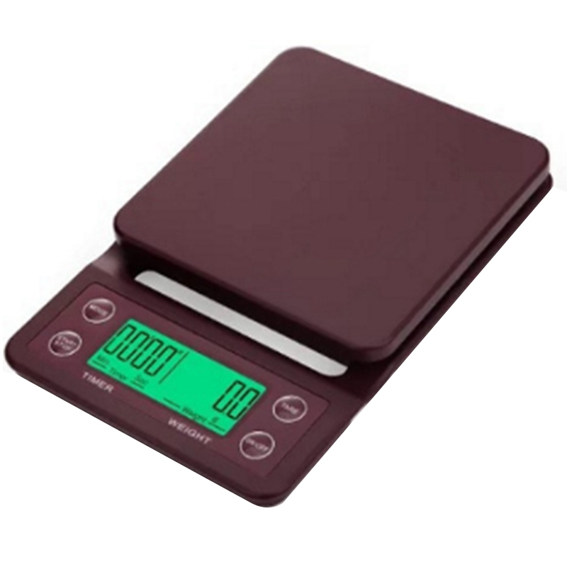 5Kg/0.1G Drip Coffee Scale with Timer Portable Electronic Di