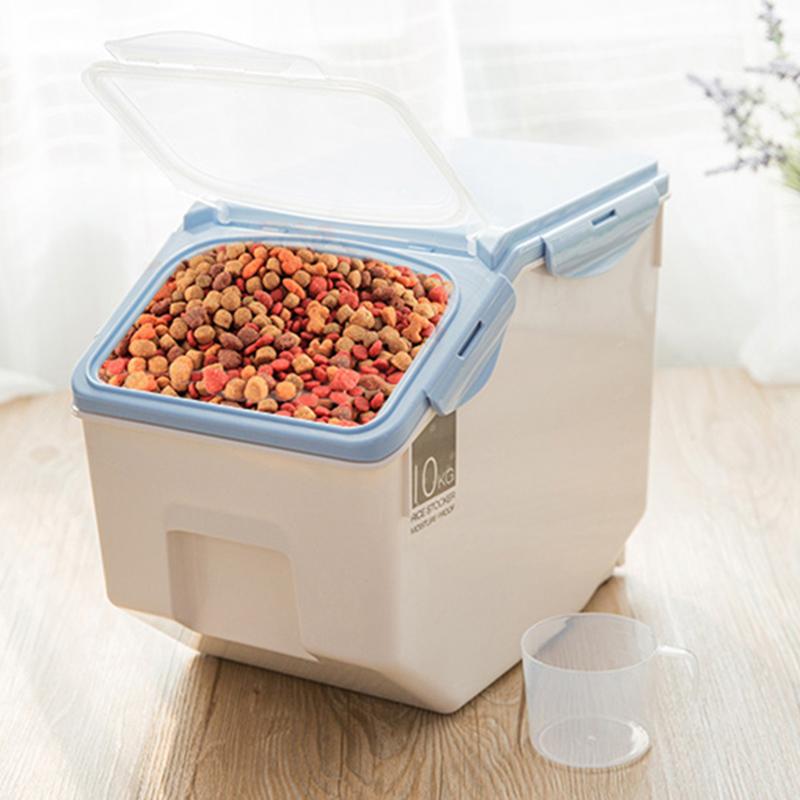 Dog-Cat-Food-Barrel-Large-Capacity-Pet-Storage-Grain-Sealed-Barrel-Feed-Fre-Y7Y7 thumbnail 6