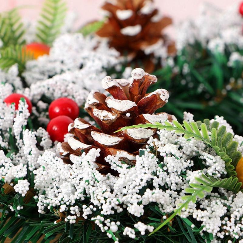 Weihnachtsschmuck-fuer-Zuhause-Rattan-Festliche-Party-Rattan-DIy-Kranz-Weihn-F7E3 Indexbild 3