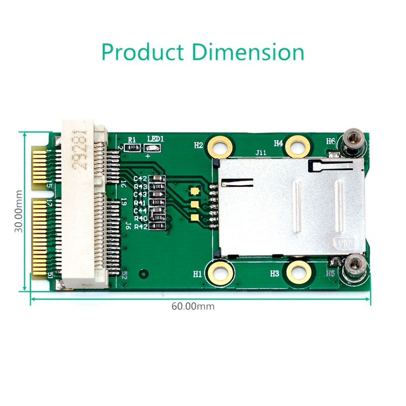 New-Mini-PCI-Express-Adapter-for-3G-4G-Module-with-USIM-Slot-MINI-PCI-E-To-T6H5 thumbnail 5