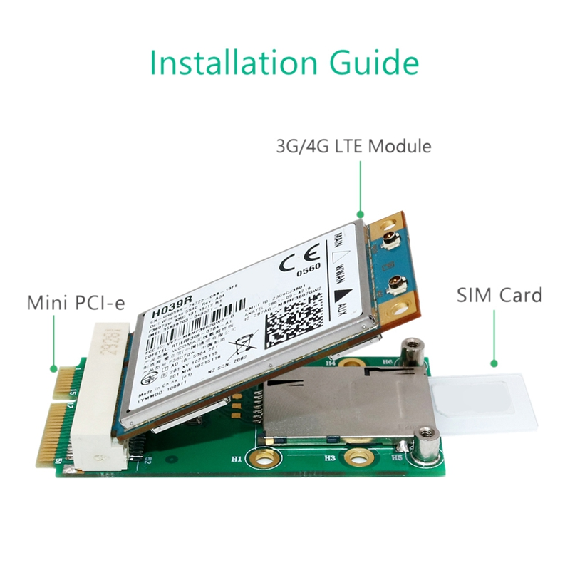 New-Mini-PCI-Express-Adapter-for-3G-4G-Module-with-USIM-Slot-MINI-PCI-E-To-T6H5 thumbnail 6