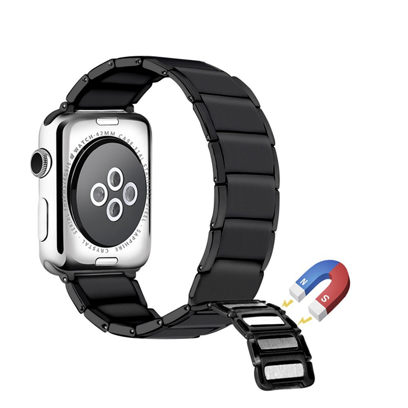 Strap-for-Apple-Watch-Band-Apple-Watch-4-3-2-1-Iwatch-Band-42Mm-44Mm-Men-Br-P9H7 thumbnail 3