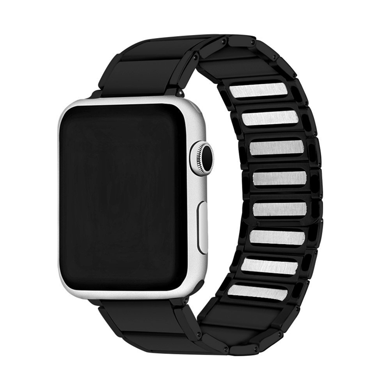 Strap-for-Apple-Watch-Band-Apple-Watch-4-3-2-1-Iwatch-Band-42Mm-44Mm-Men-Br-P9H7 thumbnail 4