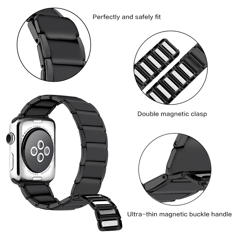 Strap-for-Apple-Watch-Band-Apple-Watch-4-3-2-1-Iwatch-Band-42Mm-44Mm-Men-Br-P9H7 thumbnail 7