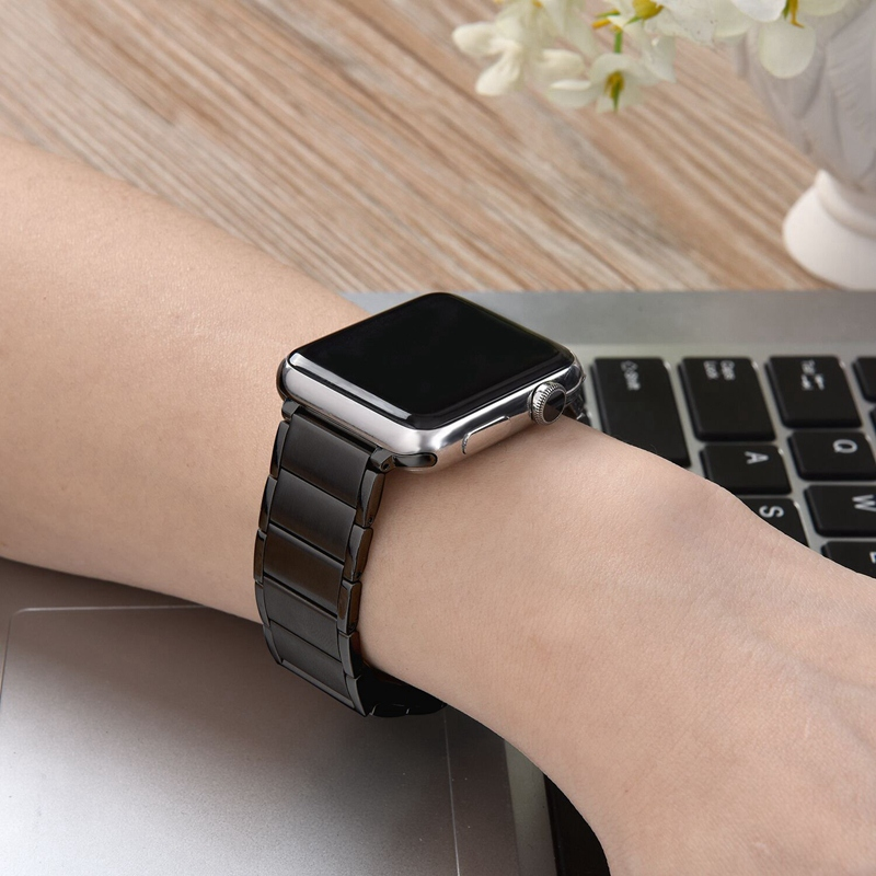 Strap-for-Apple-Watch-Band-Apple-Watch-4-3-2-1-Iwatch-Band-42Mm-44Mm-Men-Br-P9H7 thumbnail 8