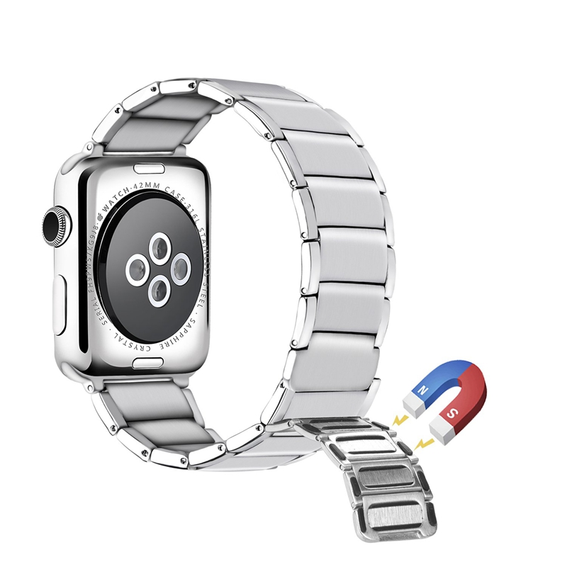 Strap-for-Apple-Watch-Band-Apple-Watch-4-3-2-1-Iwatch-Band-42Mm-44Mm-Men-Br-P9H7 thumbnail 11