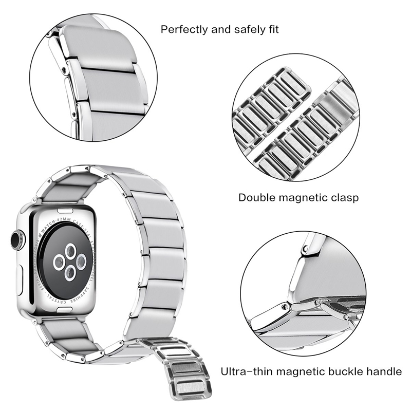 Strap-for-Apple-Watch-Band-Apple-Watch-4-3-2-1-Iwatch-Band-42Mm-44Mm-Men-Br-P9H7 thumbnail 14