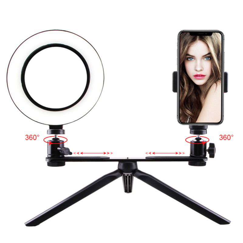 1X-Selfie-Ring-Light-with-Tripod-Stand-amp-Cell-Phone-Holder-for-Live-Stream-J8R7 thumbnail 3