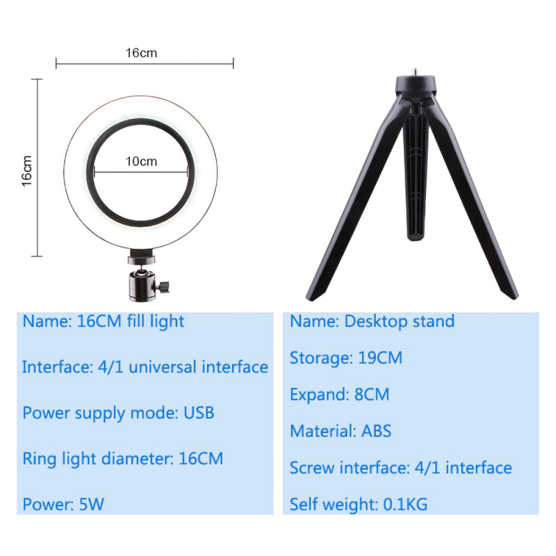 1X-Selfie-Ring-Light-with-Tripod-Stand-amp-Cell-Phone-Holder-for-Live-Stream-J8R7 thumbnail 4