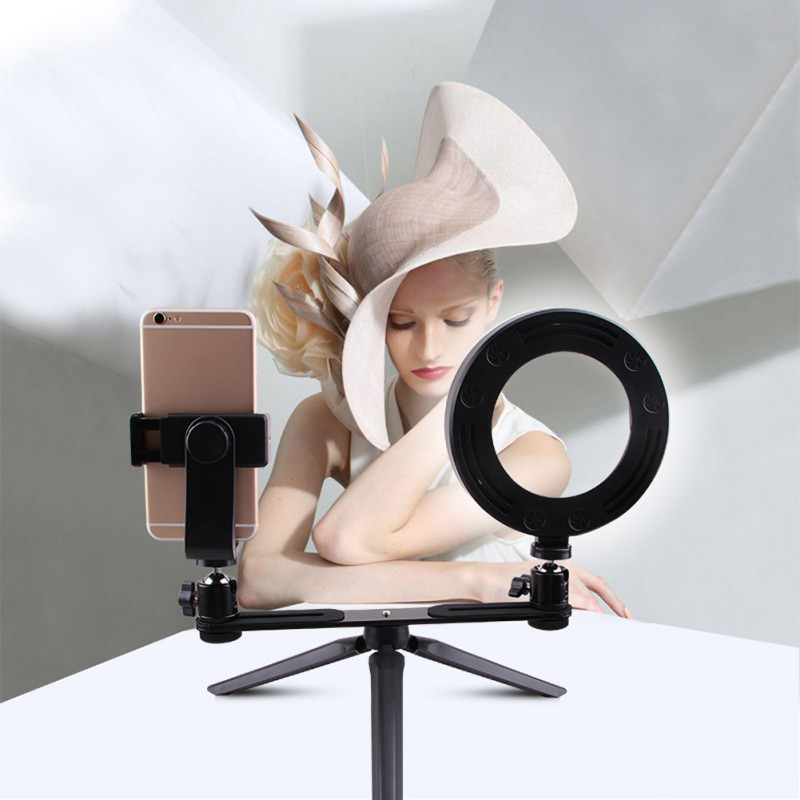 1X-Selfie-Ring-Light-with-Tripod-Stand-amp-Cell-Phone-Holder-for-Live-Stream-J8R7 thumbnail 6