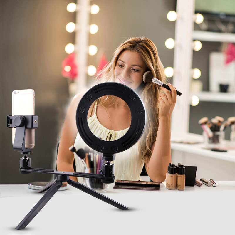 1X-Selfie-Ring-Light-with-Tripod-Stand-amp-Cell-Phone-Holder-for-Live-Stream-J8R7 thumbnail 7