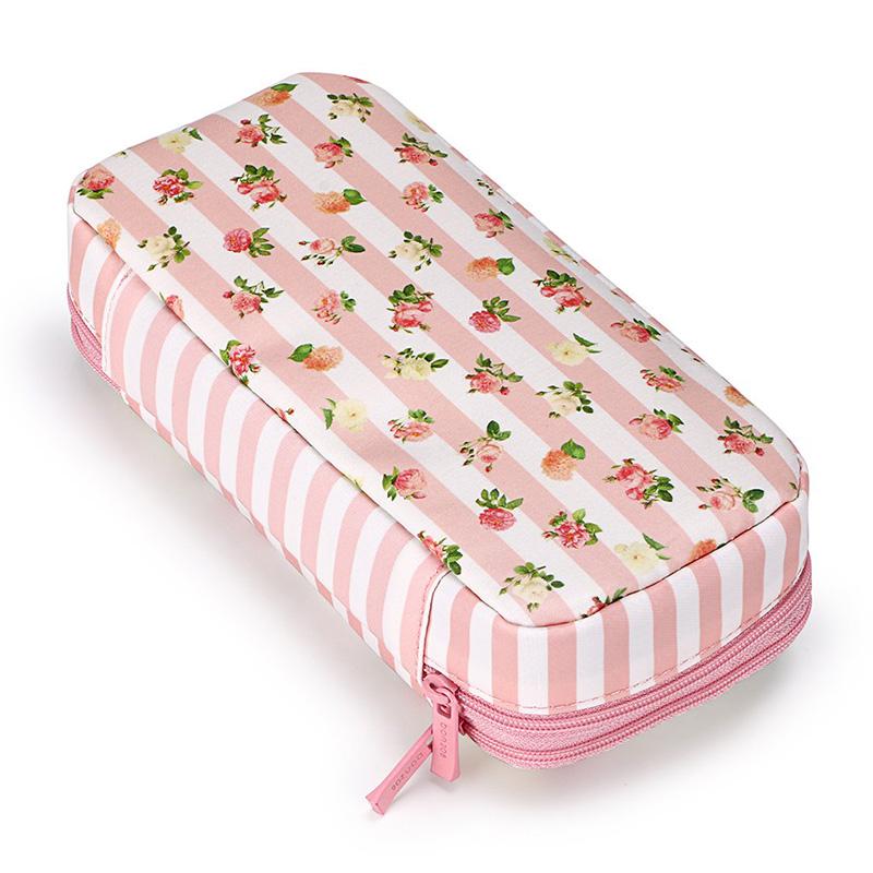 Bon208-Estuche-de-LaPices-Floral-con-Compartimentos-Estuche-de-LaPices-de-Dobl miniatura 4