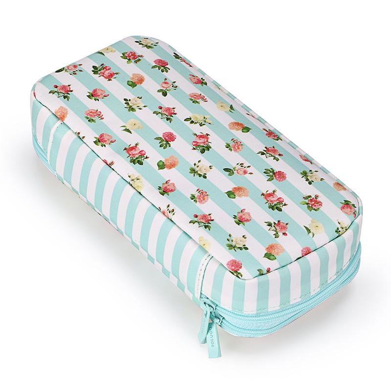 Bon208-Estuche-de-LaPices-Floral-con-Compartimentos-Estuche-de-LaPices-de-Dobl miniatura 13