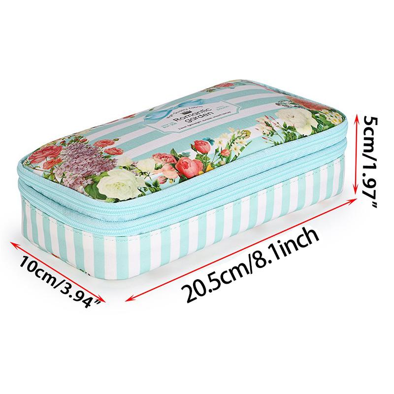 Bon208-Estuche-de-LaPices-Floral-con-Compartimentos-Estuche-de-LaPices-de-Dobl miniatura 14