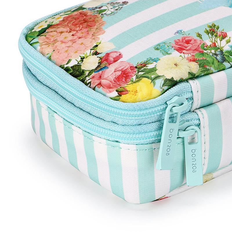 Bon208-Estuche-de-LaPices-Floral-con-Compartimentos-Estuche-de-LaPices-de-Dobl miniatura 15