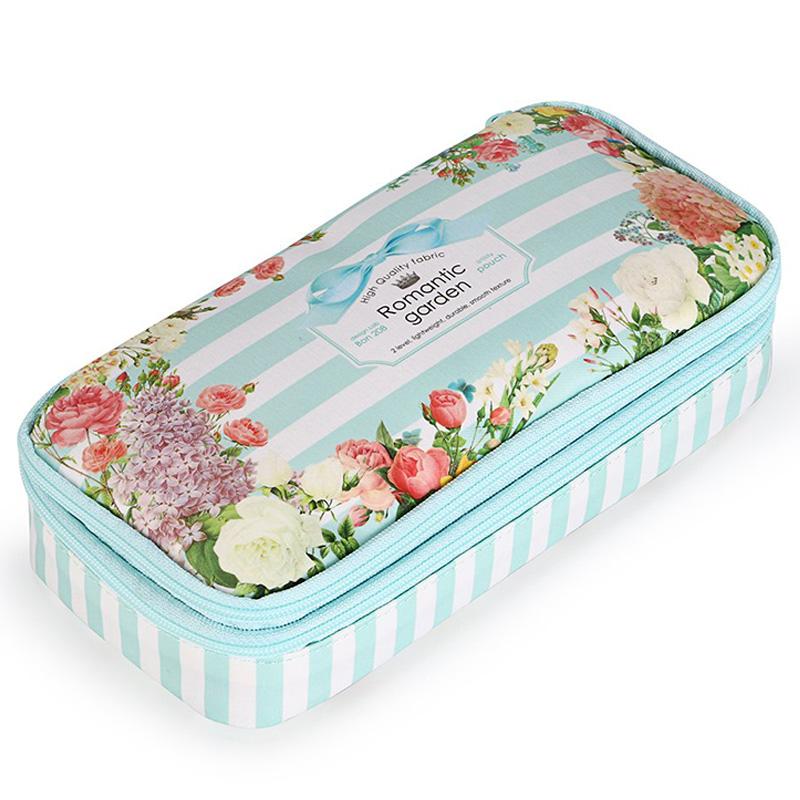 Bon208-Estuche-de-LaPices-Floral-con-Compartimentos-Estuche-de-LaPices-de-Y3N9