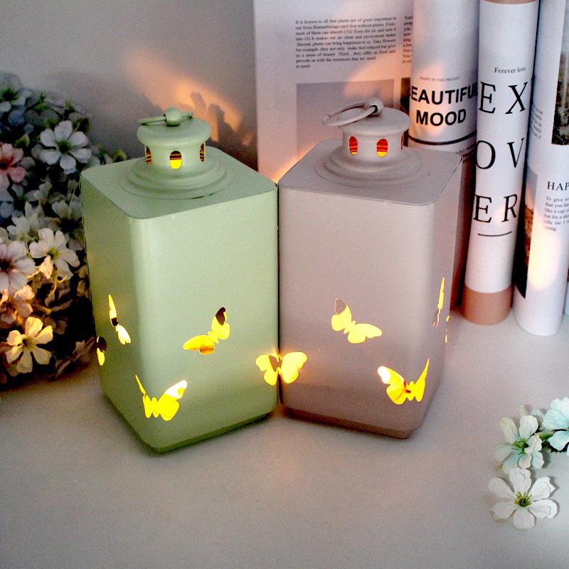 Fashion-Iron-Candlestick-Wall-Candle-Holder-Candlestick-Hanging-Lantern-V9V1 thumbnail 10