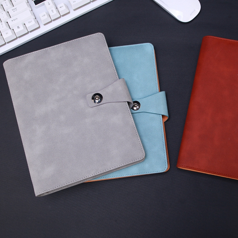 Agenda-A5-Hojas-Sueltas-Carpeta-de-Anillas-Inserciones-de-Cuero-Planificador-Por miniatura 15