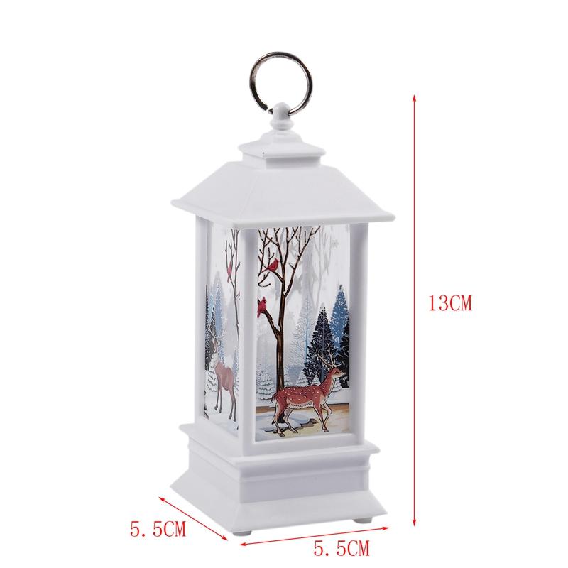 Christmas-LED-Glow-Flame-Candlestick-Wind-Light-Decorative-Ornaments-Z4X8 miniature 3