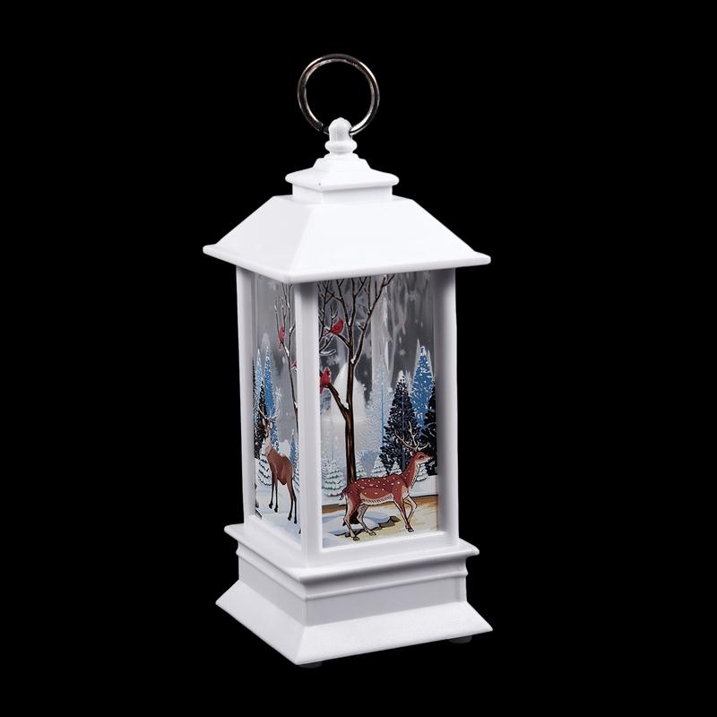 Christmas-LED-Glow-Flame-Candlestick-Wind-Light-Decorative-Ornaments-Z4X8 miniature 6