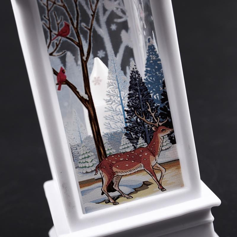 Christmas-LED-Glow-Flame-Candlestick-Wind-Light-Decorative-Ornaments-Z4X8 miniature 9