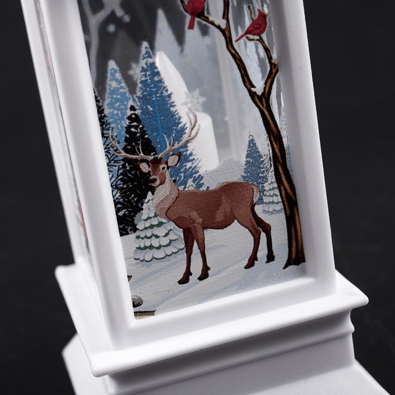 Christmas-LED-Glow-Flame-Candlestick-Wind-Light-Decorative-Ornaments-Z4X8 miniature 11