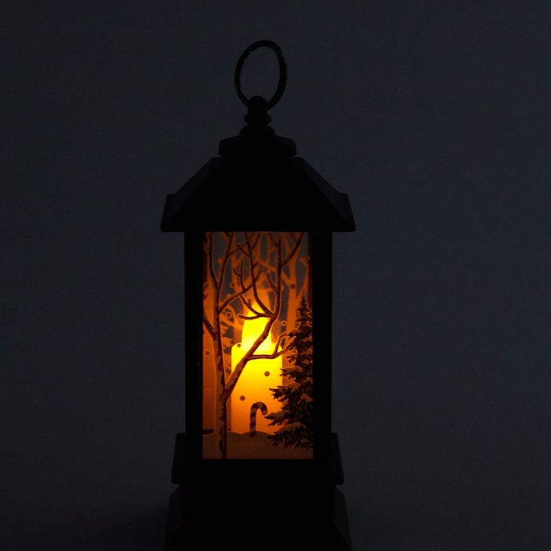 Christmas-LED-Glow-Flame-Candlestick-Wind-Light-Decorative-Ornaments-Z4X8 miniature 19