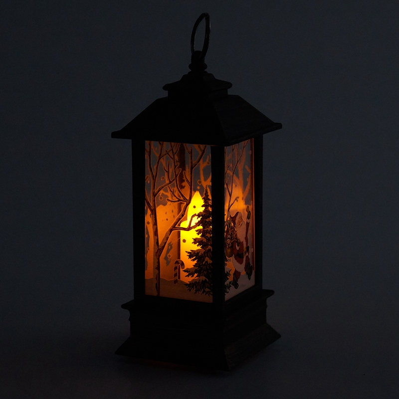 Christmas-LED-Glow-Flame-Candlestick-Wind-Light-Decorative-Ornaments-Z4X8 miniature 20