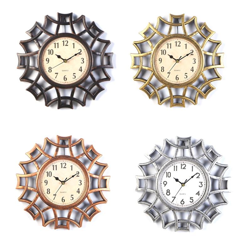 Abstrait-Horloge-Murale-Nordic-Vintage-Chiffre-GeOmeTrique-Horloge-Murale-Q-T7E1 miniature 19